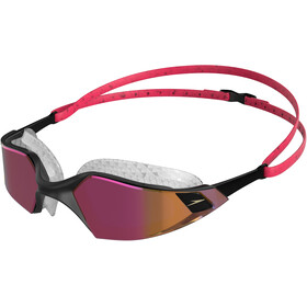 speedo Aquapulse Pro Mirror Okulary pływackie, psycho red/black/rose gold